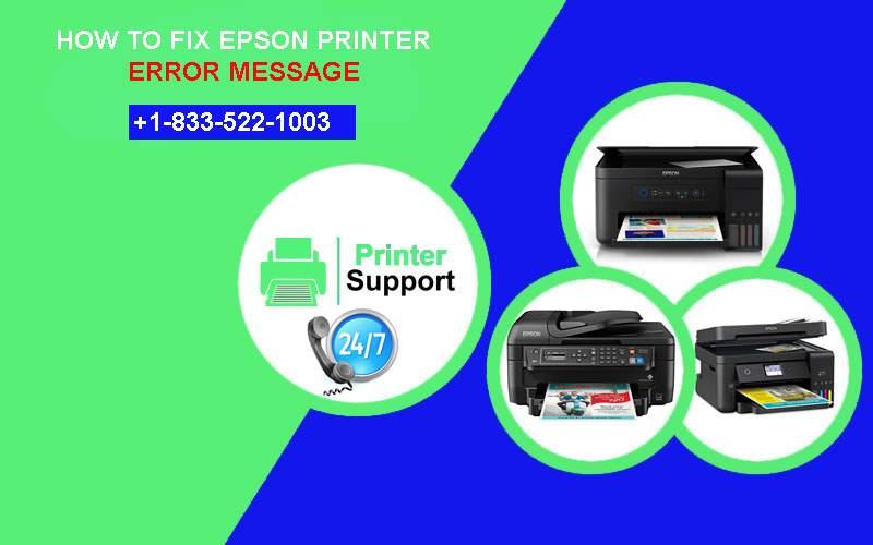 How To Fix Your Epson Printer Error Message