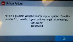 How To Fix HP Printer Error Code b851fe84 - Printer Fixes