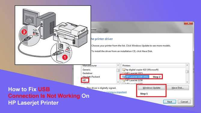 How to Fix USB Connection Is Not Working On HP Laserjet Printer